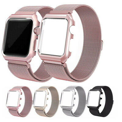 Apple Watch Milanese Watch Band With Frame Strap Bracelet Loop For iWatch 38/42