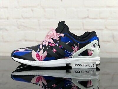buy online 40277 bf5d9 ADIDAS ZX FLUX NPS Black Pink Blue White B34467 Size 11