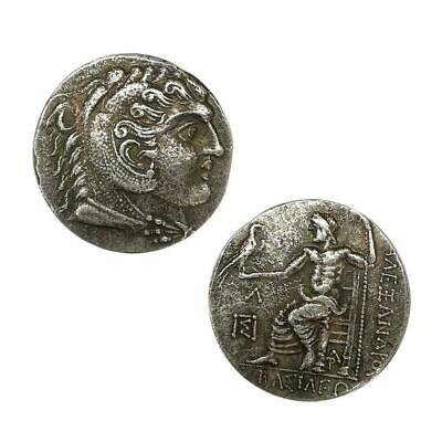 Ancient Greek Macedonian Draco Commemorative Coin Small Silver Coin Z1J2