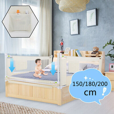 Kids Baby Bed Rail150/180/200cm Child Bed Guard Toddler Safety Children Bedguard