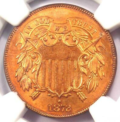 1872 Two Cent Coin 2C - Certified NGC Uncirculated Details (UNC MS) - Key Date!