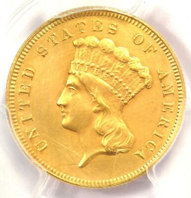 1880 Three Dollar Indian Gold Coin $3 - Certified PCGS AU Details - Rare Date!