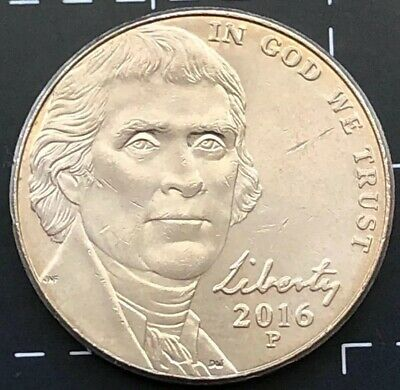 2016 United States Of America U.s.a - Us Five Cents 5 Cent Coin - Monticello - P