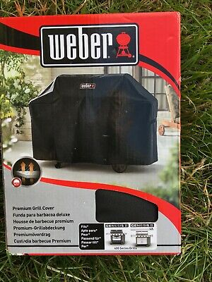 Weber 7135 Premium BBQ Grill Cover Fits Genesis 11 And LX 400 Series New Boxed