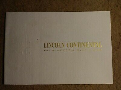 1961 Lincoln Continental color catalog - very stylish