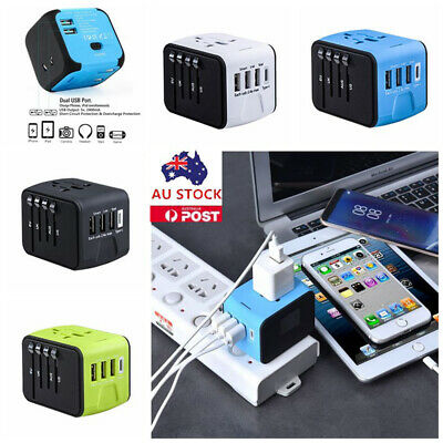 3 USB Travel Charger International World Wide Universal Adapter Multi Plug Power
