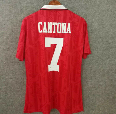CANTONA 7 Football Shirt 1992 94 MAN UTD Retro Jersey Manchester Soccer shirt