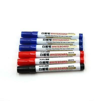 Large white board whiteboard markers pens dry wipe markers ASSORTED with CLIPS