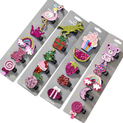 Bowknot Kids Girls Toddler Hairpin Cartoon Hair Pins Clip Snap Barrette 5PCS/Set