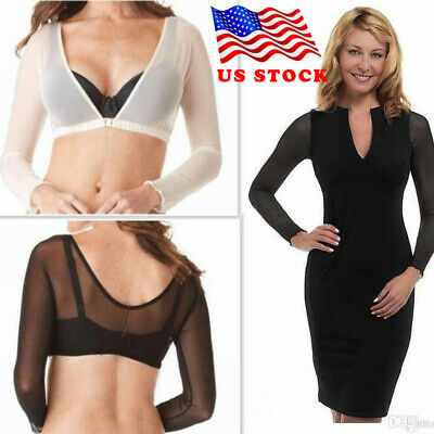 US Plus Size Seamless Arm Shaper Sleevey Wonders Women Wrap Short Cropped Mesh