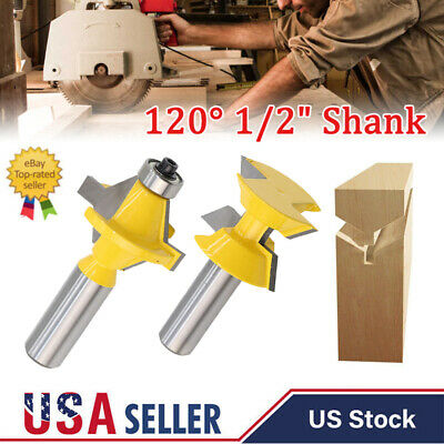 """1//2 1//4/"""" T Bearings Router Bit Matched Tongue Groove Trim Biscuit Joiner Cutter"""
