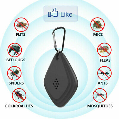 Portable Ultrasonic Anti Mosquito Repeller Outdoor Indoor Pest Insect Repellent
