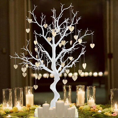 Wishing Tree Resin Simulated Tree & Hearts Wedding Guest Book Tree Center Decor