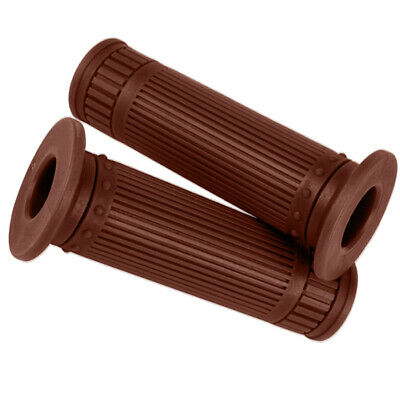 Motorcycle Rubber Handlebar Hand Grip Autobike Handle Bar for 25/28MM Brown
