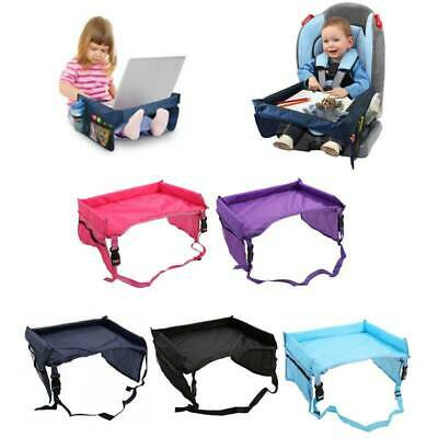 Safety Waterproof Snack Baby Car Seat Table Kids Play Travel Tray Desk 5Colors