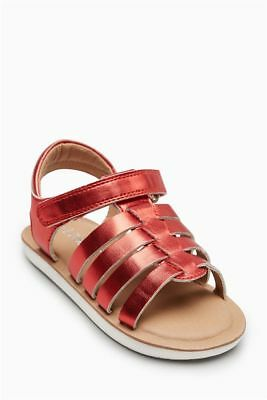 NEXT Red Girls Sandals size 9 , NEW