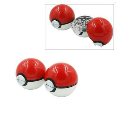1X 55mm 3-Layer Zinc Alloy Tobacco Mill Spice Herb Grinder Pokeball Pokemon Gift