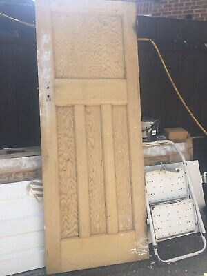 Reclaimed 1930s 1 over 3 panel doors. Stripped and sanded  (1 Available