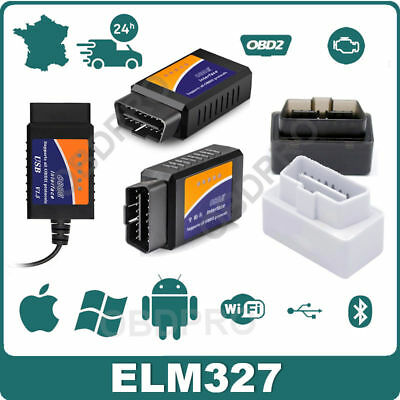 Interface diagnostic multimarque ELM327 BLUETOOTH USB WIFI ELM 327 OBDII EOBD HQ