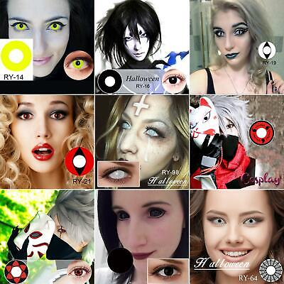 1 Pair Halloween Big Comfort Coloured Contact Lenses Cosplay Party Eyes Makeup