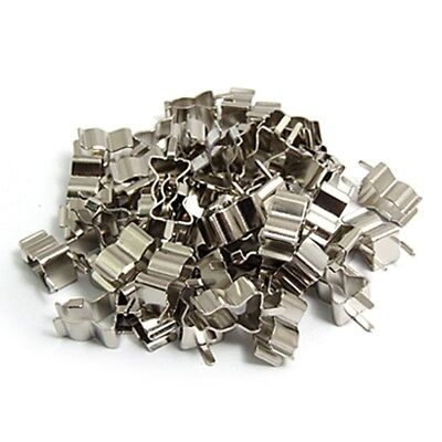 50Pcs Electronic Glass Fuse Tube Clip Clamp for 6 x 30mm Fuse L6J7