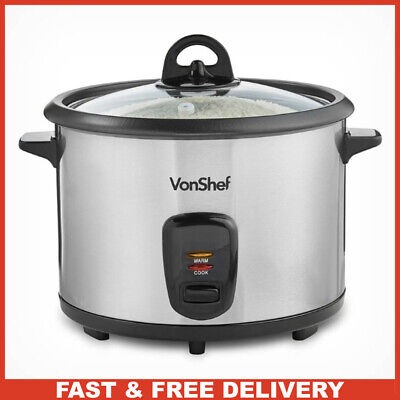 1.8L Electric Rice Cooker Machine with Keep Warm Function Carry Handles & Lid