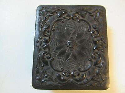 Vintage Early 1900s Carved Folding Wood & Copper Picture Frame MINT COND