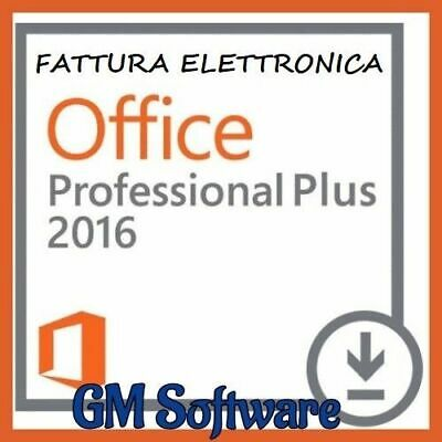 Microsoft Office 2016 Professional Plus 32/64 bit Fatturabile - Originale