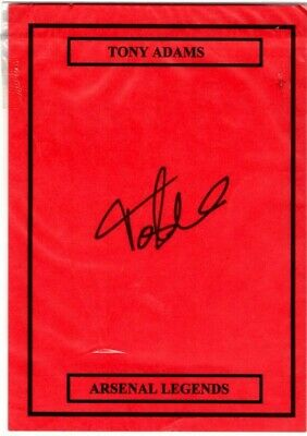 Ex Arsenal Legend Tony Adams Hand Signed Card Size A5
