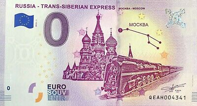 Billet 0 Euro Trans-Siberian Express 1  Russie 2019-1 Numero Divers