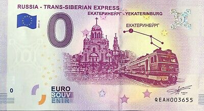Billet 0 Euro Trans-Siberian Express 2  Russie 2019-2 Numero Divers