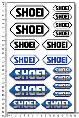 Shoei Helmets Sponsor Motorcycle Decals Sticker Set Laminated