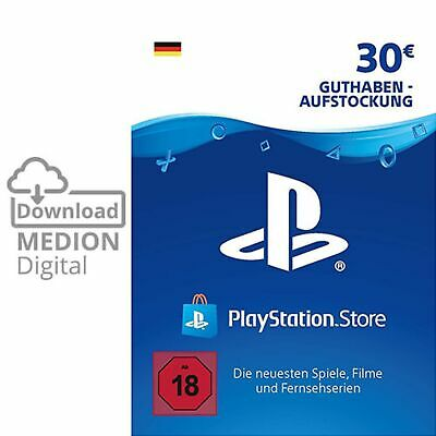 Sony Playstation Network Card 30EUR Euro PSN PS3 PS4 Vita Guthaben Download Code