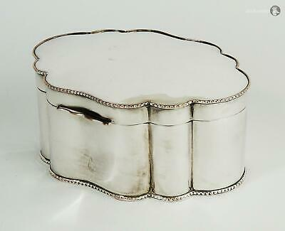 Fantastic EDWARDIAN SILVER PLATE BISCUIT BOX c1900 Beaded Decoration