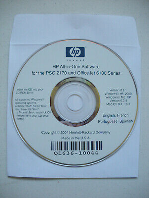 Hp Psc 2100 2200 Officejet 6100 Series Windows Mac Os Driver Cd - Free Shipping