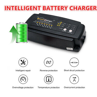 12V 2/4/8 A Smart Trickle Battery Charger For Car Motorcycle Caravan Boat