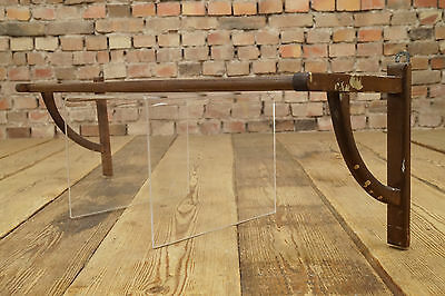 Vintage Wardrobe Bauhaus Wall Coat Rack Wood Country Cottage Shabby Hat 1950s