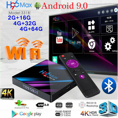 H96 MAX RK3318 Smart TV BOX Android 9.0 4GB 64GB Quad Core 1080p 4K Meida Player