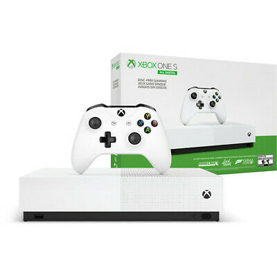Brand New Microsoft Xbox One S All-Digital Edition Gaming Console - White