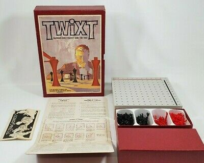 Vintage Twixt Game - 1962 - 3M Bookshelf Strategy Board Game With Advertisement