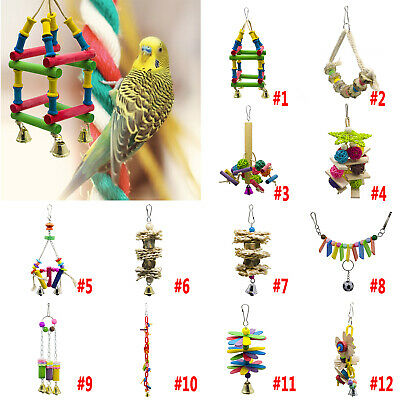 Pets Bird Toy Parrot Hanging Swing Rope Cage Toys Parakeet Cockatiel Budgie NEW