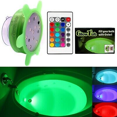 GlowTub Underwater Remote Controlled LED Color Changing Light for bathtub or spa