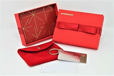Starbucks Collectible Sterling Silver Edition Gift Card & Key Chain 2014 Edition