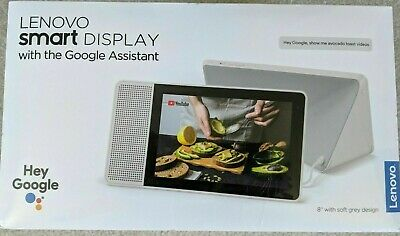 "Lenovo 8"" Smart Display w/Google Assistant Grey SD-8501F FREE FAST SHIPPING!"