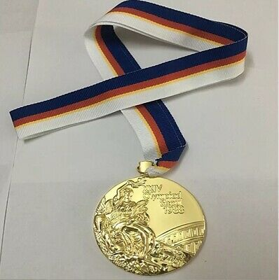 Most Selling 1988 Seoul Olympic 'Gold' Medal+ Ribbon ORIGINAL Heavy Size