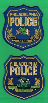 DELAWARE COUNTY POLICE EMERALD SOCIETY PATCH ~ PENNSYLVANIA ~ ERIN GO BRAGH