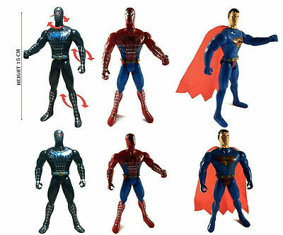 "Spider Man Superman Marvel Toy 6"" (15cm) figure, Spiderman Kid Toy 3D Figure"