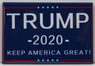 "Trump 2020 ""Keep America Great!"" 2"" X 3"" Fridge / Locker Magnet.  Election GOP"