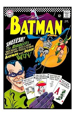 BATMAN Issue #179 UNSIGNED 11x17 PHOTO The RIDDLER On Cover - Bob Kane