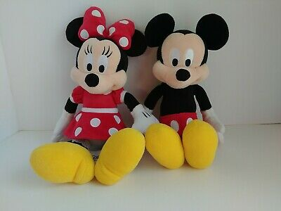 Disney Parks Mickey Mouse & Minnie Mouse Plush Stuffed Animal - Lot of 2